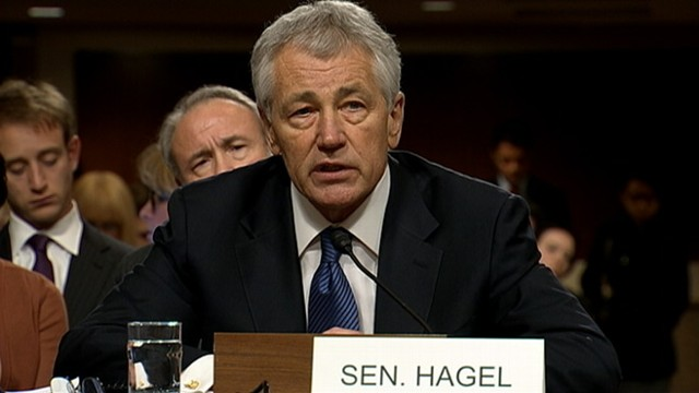 VIDEO: President Obama defense nominee Chuck Hagel faces questions about his position on Iraq.