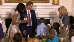 VIDEO: British royal popped in to Mother's Day tea honoring military moms.