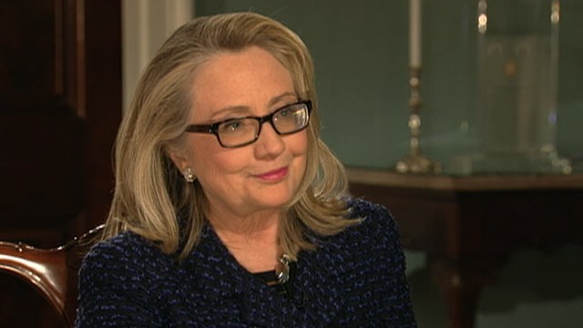 "PHOTO: In her final television interview as Secretary of State Hillary Clinton told ABC's Cynthia McFadden that she is ""flattered and honored"" at the intense interest in her running for president in 2016."