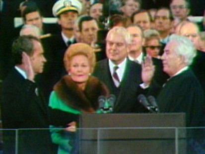 VIDEO: Richard Nixon takes the presidential oath of office.