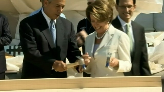 VIDEO: Bipartisan leaders take part in construction of stage that will host the next presidents inaugurati