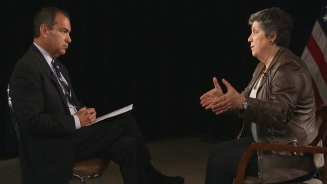 PHOTO: Department of Homeland Security Secretary Janet Napolitano speaks to ABC News in an exclusive interview.