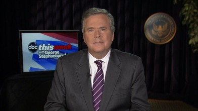 PHOTO: Former Florida Governor (R), and Immigration Wars Co-Author Jeb Bush on 'This Week'