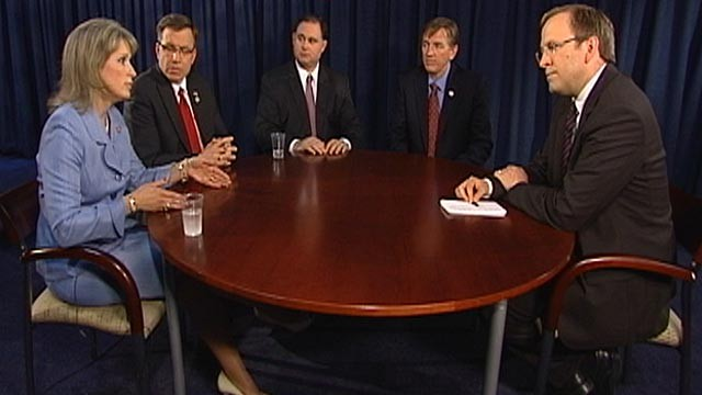 PHOTO:&nbsp;Jonathan Karl sits down with four freshmen members of Congress.