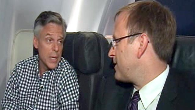 PHOTO: Jonathan Karl's interview with Jon Huntsman.