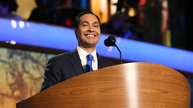 PHOTO:&nbsp;San Antonio Mayor Julian Castro speats at the Democratic National Convention in Charlotte, N.C., Sept. 4, 2012.