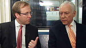 Photo: Jon Karl and Orrin Hatch