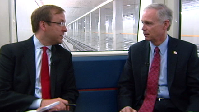 PHOTO Sen. Ron Johnson takes a ride on ABCs Subway Series.