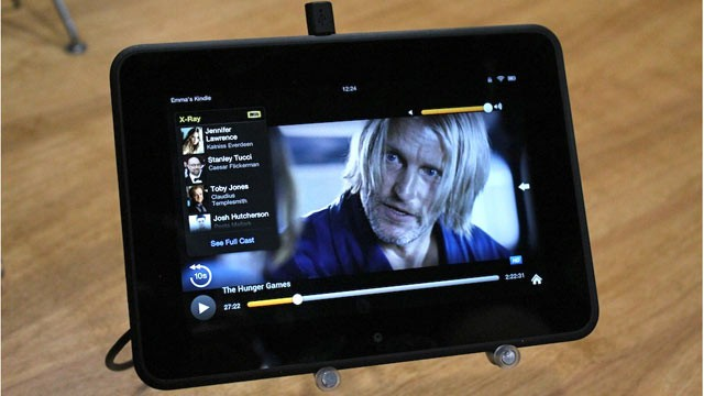 PHOTO: Amazon's X Ray for Movies shown on the Kindle Fire HD.