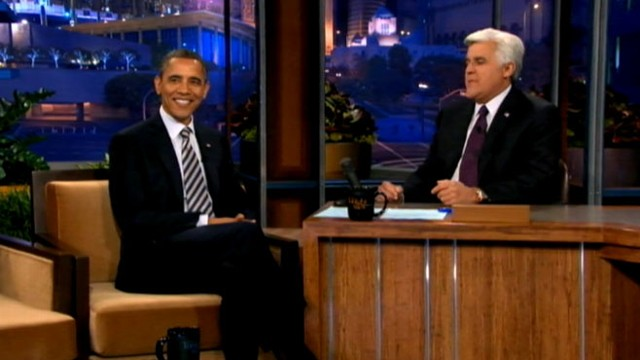 "VIDEO: Obama discusses Gadhafi and jokes the White House will get egged on ""The Tonight Show with Jay Leno."""