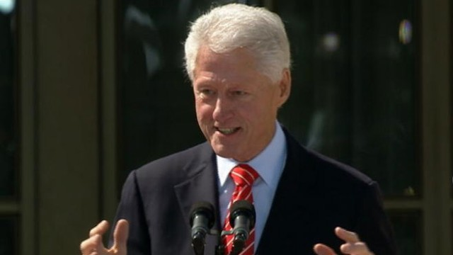 Video: Bill Clinton Gets Laughs at George W. Bush Library Ceremony