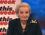 PHOTO: Former Secretary of State and Prague Winter author Madeleine Albright on This Week