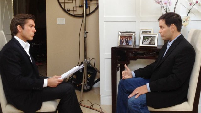 PHOTO: ABC's David Muir interviews Senator Marco Rubio airing tonight on World News.