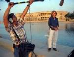 PHOTO: Martha Raddatz reporting from the Al Faw Palace at Camp Victory in Baghdad, Iraq in 2003.