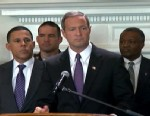 PHOTO: Maryland Governor Martin OMalley gives a press conference on Jan. 18, 2013 about gun control.
