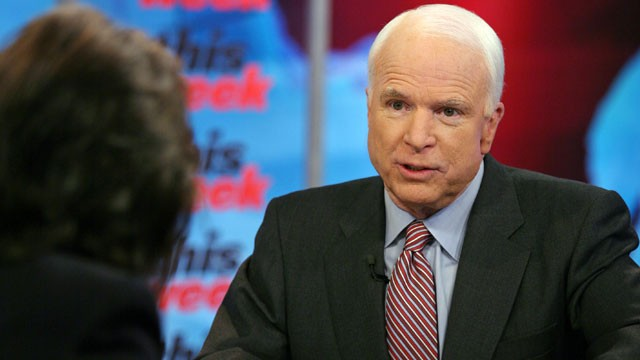 PHOTO:&nbsp;Sen. John McCain (R-Ariz.) appears on &quot;This Week with Christiane Amanpour.&quot;
