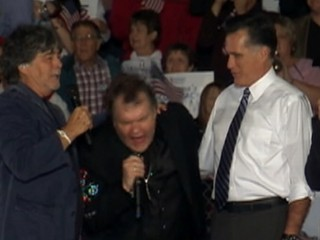 Watch: Meat Loaf and Mitt Romney Sing With Ohioans