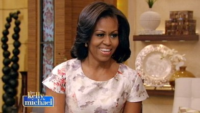 PHOTO: Michelle Obama appeared on the show, Live with Kelly and Michael, Oct. 19, 2012.