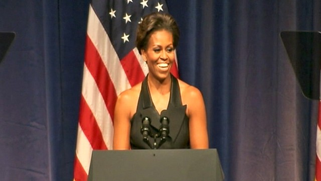 WATCH: First Couple Flirts at Fundraiser
