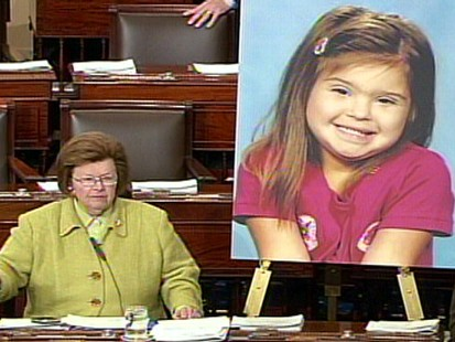 Video of Sen. Mikulski introducing Rosas Law to ban use of mentally retarded.