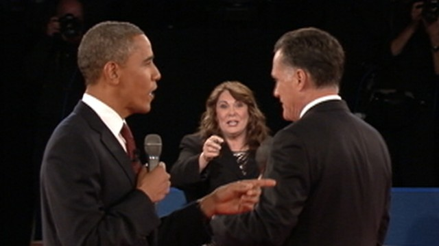 VIDEO: Candy Crowley served as debate moderator at Hofstra University.