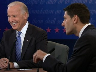 Watch: Biden Laughs at Ryan's 'Malarkey' on Foreign Policy
