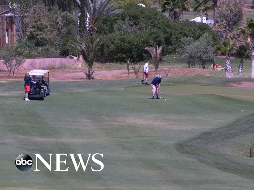 PHOTO: Golfing was on the agenda at the resort that hosted the three-day Clinton Global Initiative in Morocco.