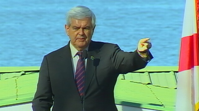 VIDEO: Newt Gingrich calls Mitt Romney ads desperate and false.
