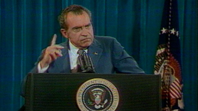 VIDEO: President Nixon says he never illegally benefitted from public service in this 1973 press conference.
