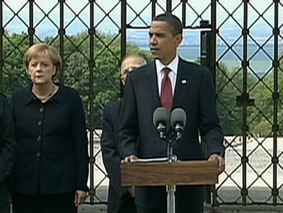 VIDEO: The president speaks about his tour of the concentration camp.