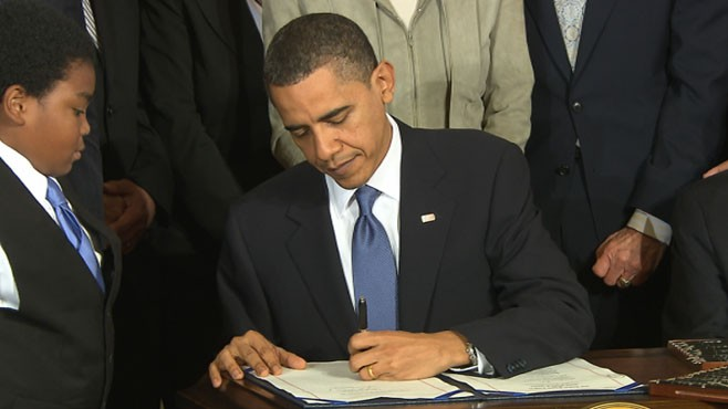 VIDEO: President Obama Signs Health Care Bill