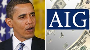 Photo: Obamas Outrage: President Wants Treasury to Block to AIG Bonuses