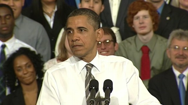 "VIDEO: The president accuses Republican rivals of being ""stuck in the past."""