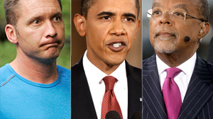 PHOTO Cambridge Police Sgt. James Crowley, left, President Barack Obama, and Dr. Henry Louis Gates Jr. are shown.