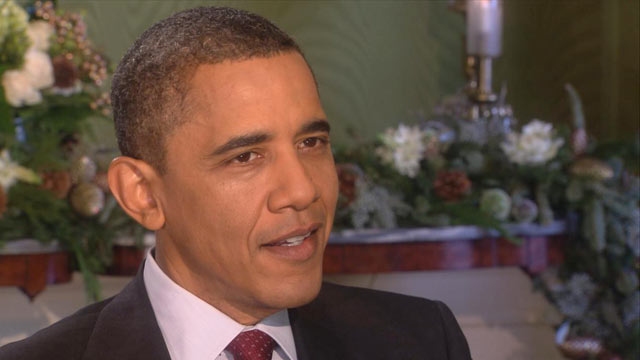 PHOTO: President Barack Obama is interviewed by Barbara Walters, Dec. 14, 2011.