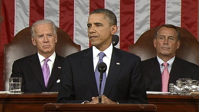 PHOTO:&nbsp;President Obama addresses both houses of the U.S. legislature