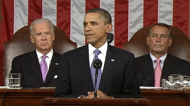 PHOTO: President Obama addresses both houses of the U.S. legislature