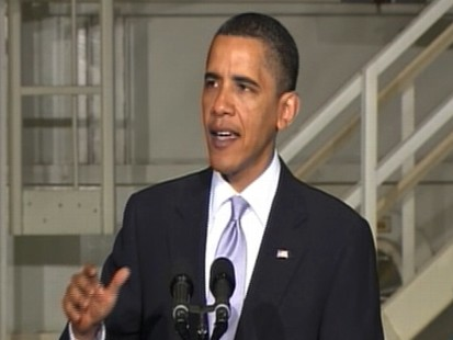 Video of President Barack Obama announcing his committment to space exploration.