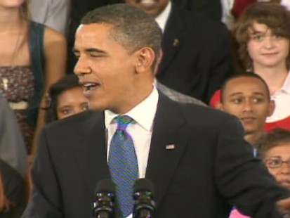 ABC News video of Obama speaking in NOLA.