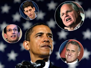 PHOTO President Obama said he expected a vicious fight over his budget and this weekend he got the first taste of battle.