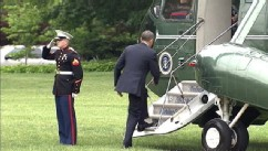 VIDEO: The president shook hands with the Marine seconds after realizing his mistake in protocol.