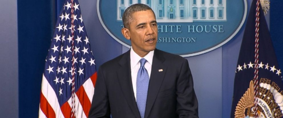 PHOTO: President Obama gives an address on the situation in Ukraine on March 17, 2014.