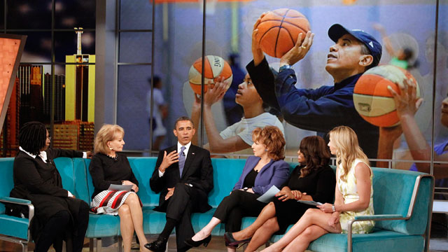 PHOTO: President Obama sits down with the ladies from The View for an exclusive interview.