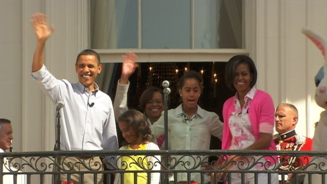 Video of the easter egg roll at the White House.