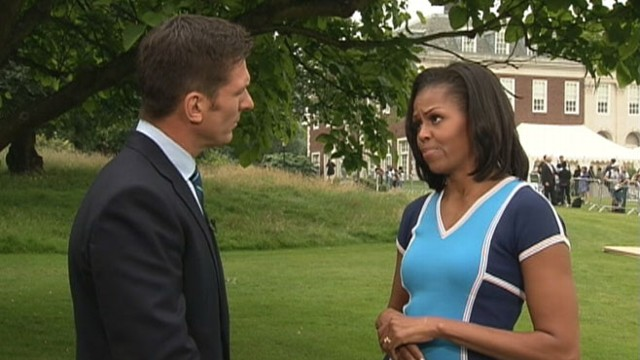 VIDEO: ABCs Bill Weir interviews the first lady in London.