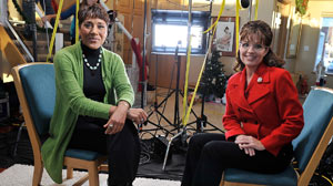 PHOTO ABC News Robin Roberts spends a day with Sarah Palin, in Wasilla, Alaska, Dec. 16, 2010.