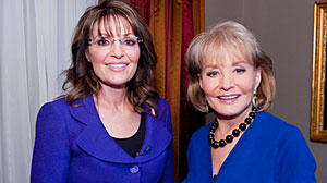 Photo: ABCs Barbara Walters interviews Sarah Palin