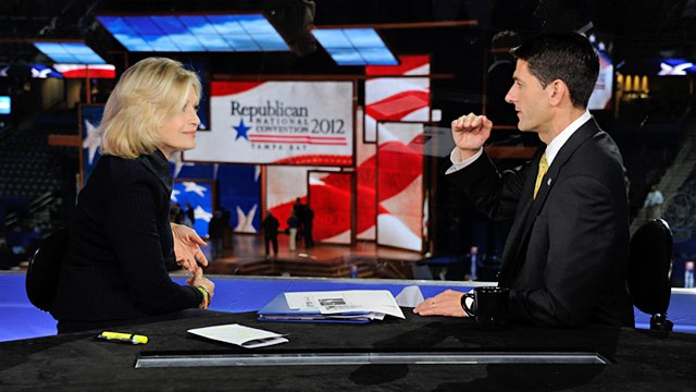 PHOTO: Paul Ryan and Diane Sawyer