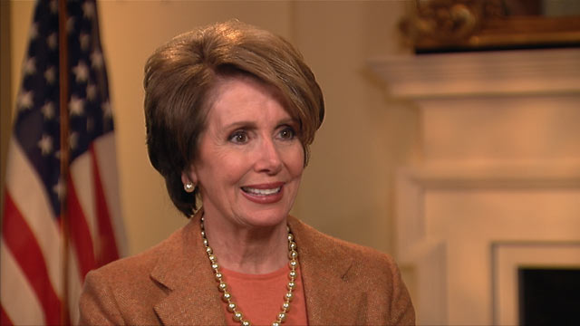 PHOTO: House Minority Leader Nancy Pelosi on spoke on ABC This Week
