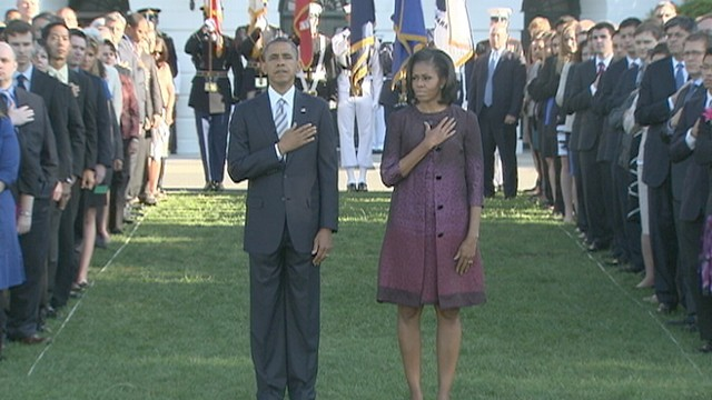 VIDEO: 9 11 Remembered: Moment of Silence at the White House